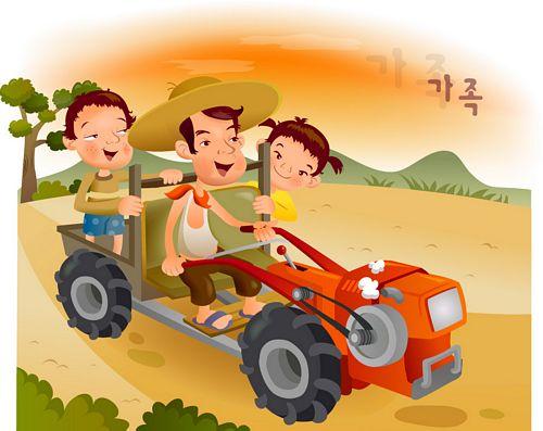 iClickart Cartoon Family illustrator vector material -4