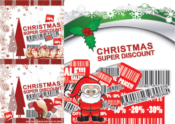 Discount store sales of decoration, bar code