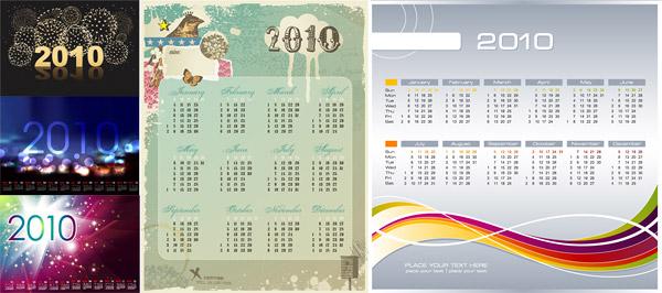 Vector 2010 Calendar