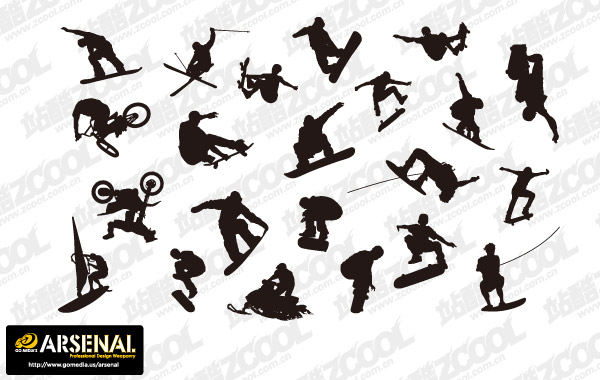 Go Media Vector material Set13-produced current trend of movement