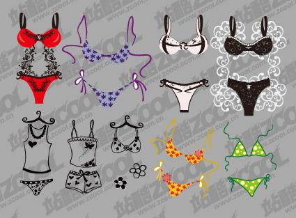 Cute bikini vector material