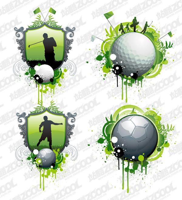 Golf and football vector