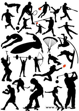 High jump, soccer, basketball, tennis, baseball, diving, parachuting, weightlifting, skating