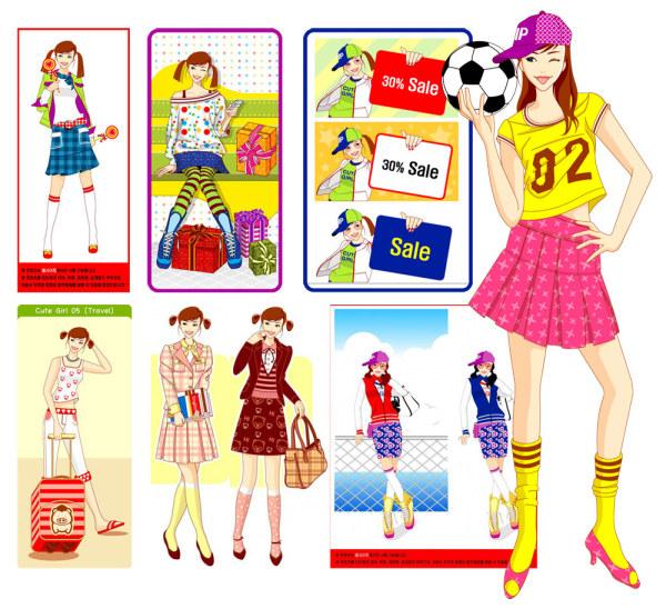 Girls, gifts, soccer, lollipops, books, school bags