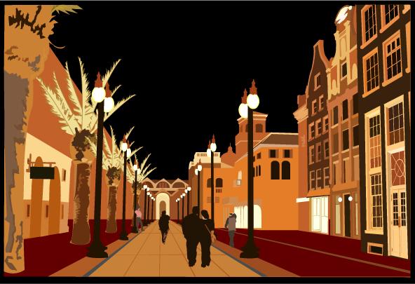 European style of street