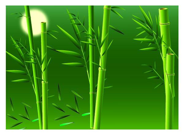 Real bamboo vector material