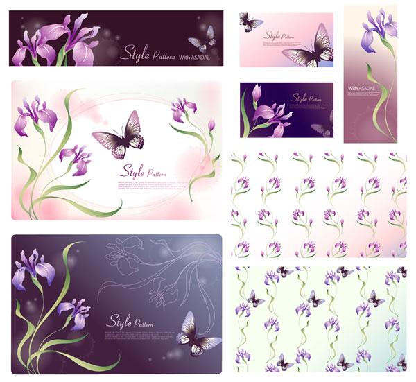 Vector fantasy flower material -17