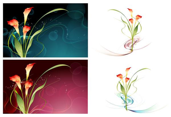 Vector fantasy flower material -15