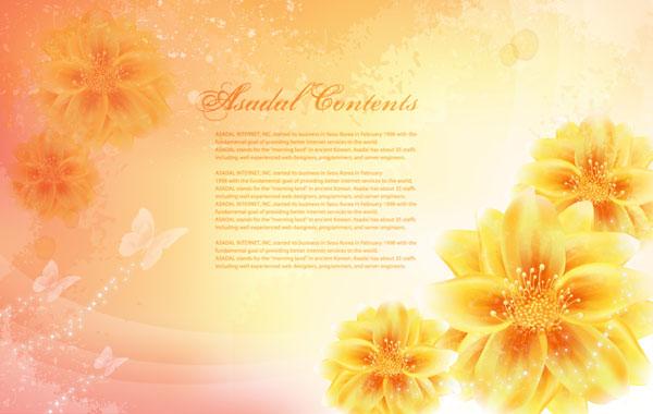 Vector fantasy flower material -14