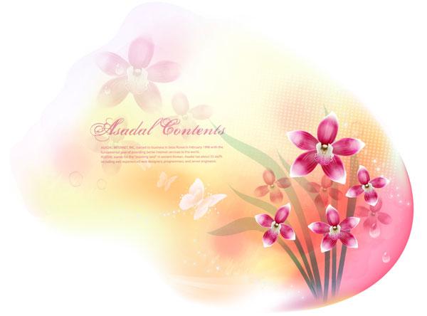 Vector fantasy flower material -13