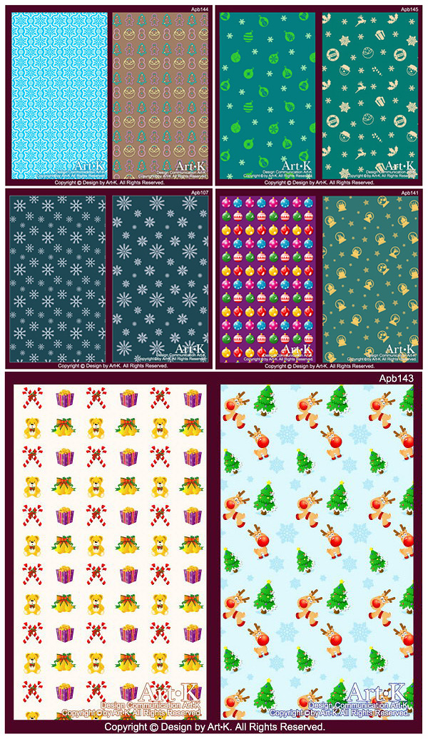 Snow, eggs, ornaments, elk, bears, bells Vector