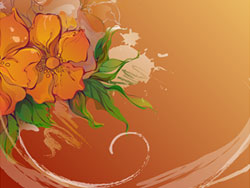 Hand-painted flowers Vector material-2