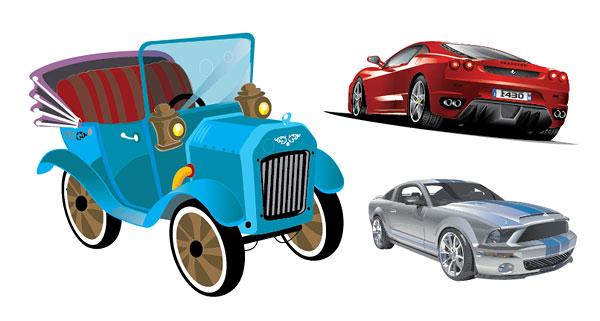 3 car vector material