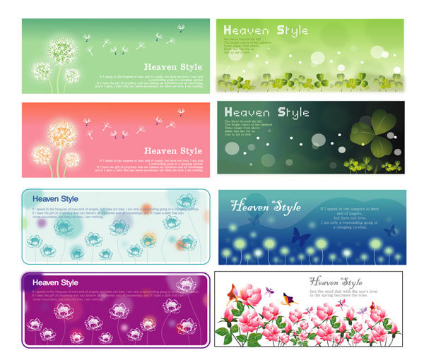 Flower Plants banner vector