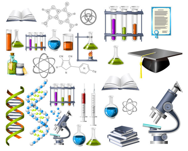 Biochemistry theme icon vector material