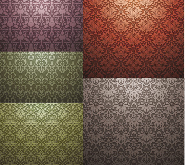 European-style tiled background pattern vector material
