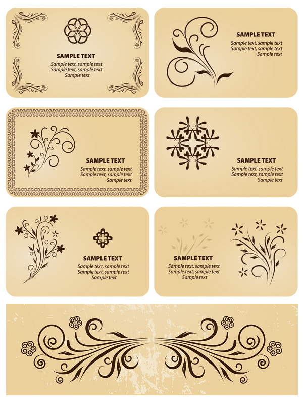 Several motifs element vector material