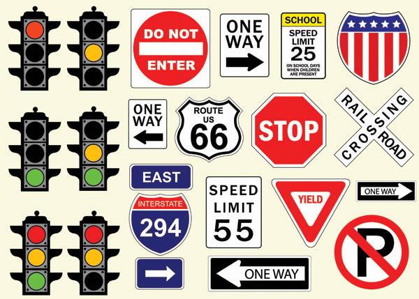 Traffic logo vector material