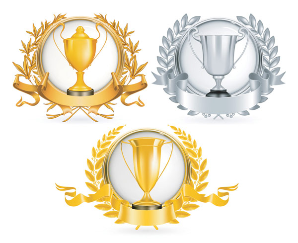 Yellow Gold trophy vector material
