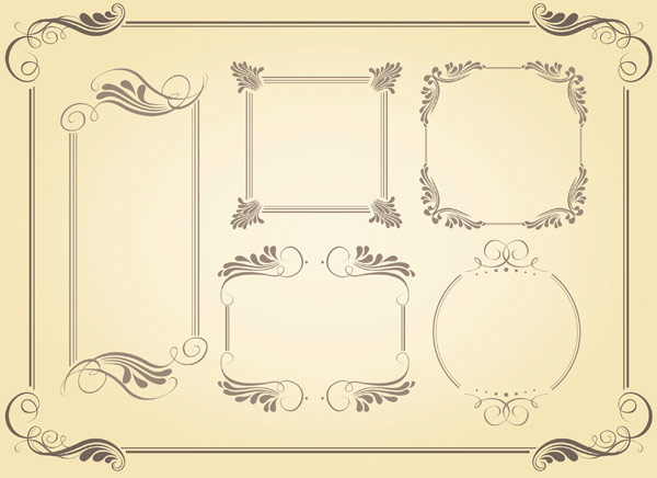 Simple Borders Vector material