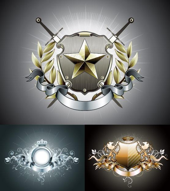 European emblem graphics vector material