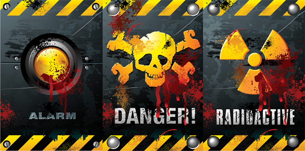 Horror theme vector material