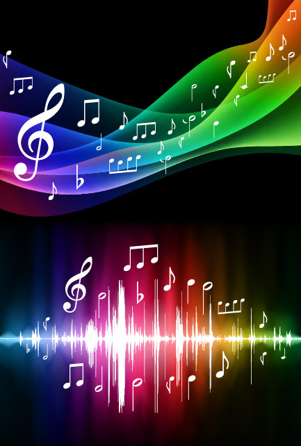 Symphony music background vector material