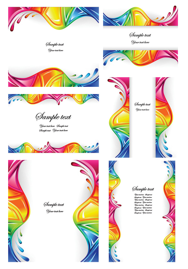 Dynamic wave vector colorful graphics material