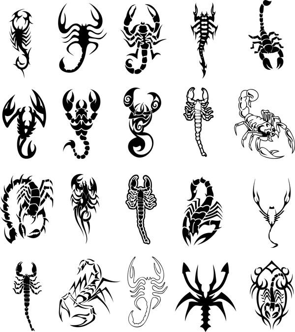 Scorpion totem vector material