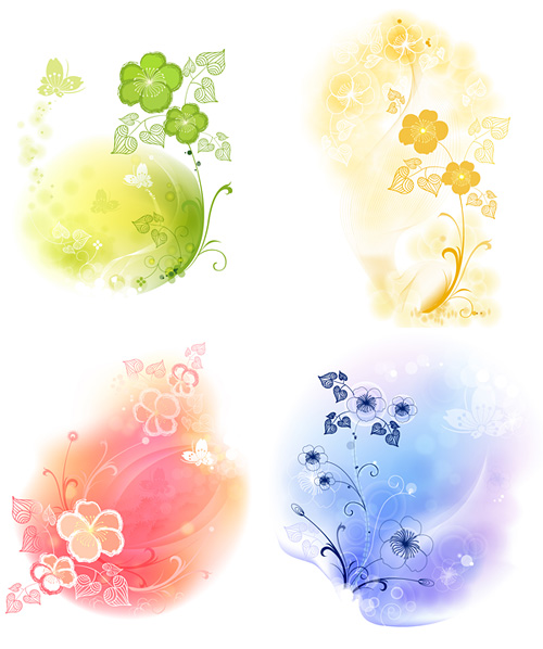 4 soft background pattern vector material