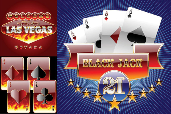 Playing cards vector material