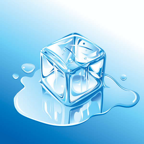 Realistic ice vector material