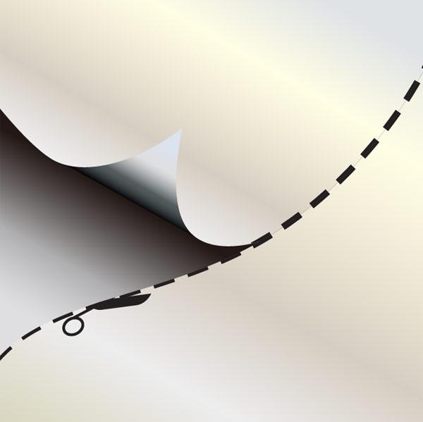 Paper cut vector material