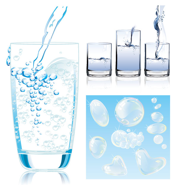 Dynamic water vector material