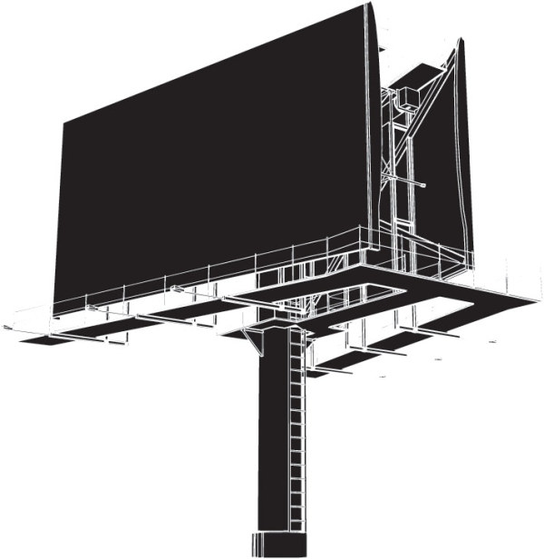 Outdoor billboard space vector material
