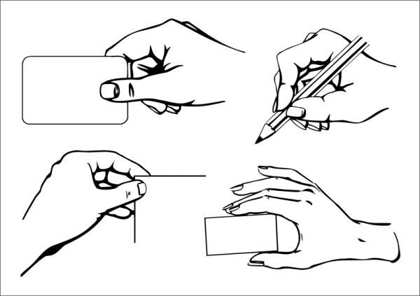 Practical gesture vector material (1)