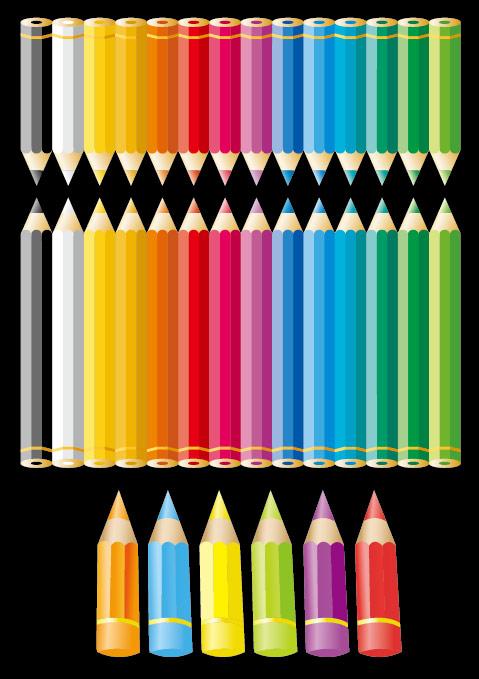 Color pencil Vector material