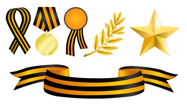 Medals element vector material
