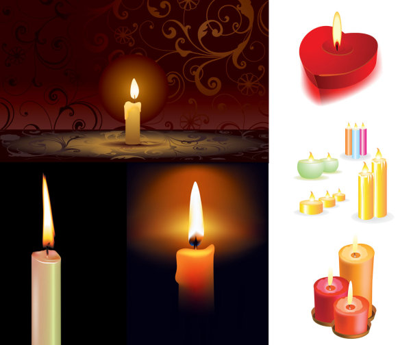 5 candle Vector material