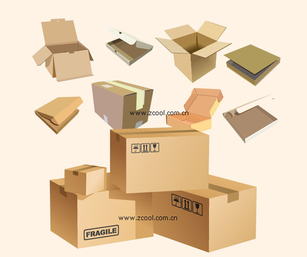 Carton box blank vector material