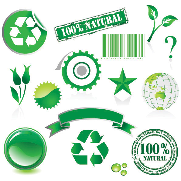 Environmental theme element vector material