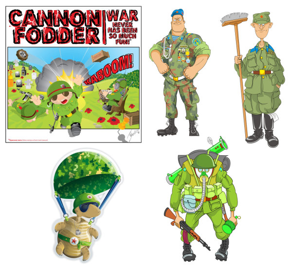 Cartoon soldier vector