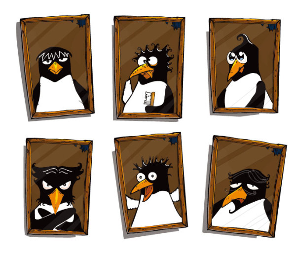 Cute penguin Photo Vector material