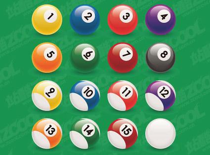 Billiard ball number vector material