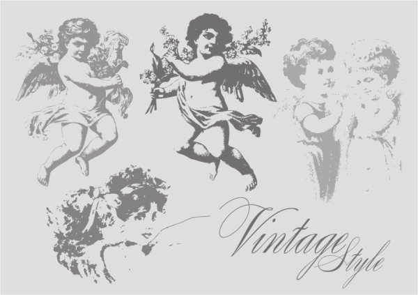 Vintage Angel Vector