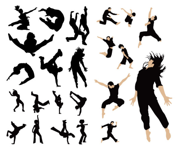 Dancing people vector material