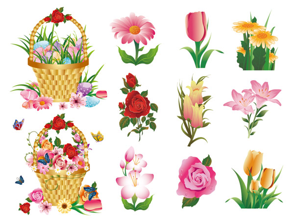 Flower Series Vector material