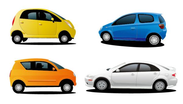 4 car vector material