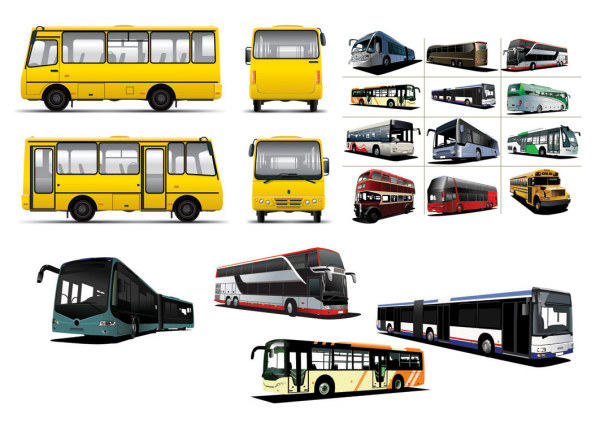 Various BUS bus vector material