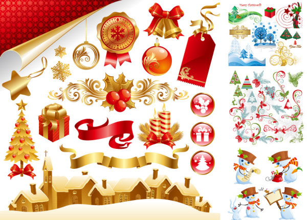 Beautiful Christmas material late Vector